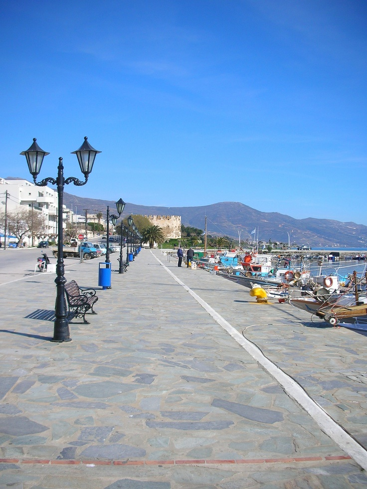 Port of Karystos in Evia Island, Greece
