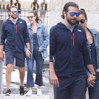 海外セレブニュース&ファッションスナップ: 【イリーナ・シェイク】笑顔で恋人ブラッドリー・クーパーと手をつないでパリをお散歩!