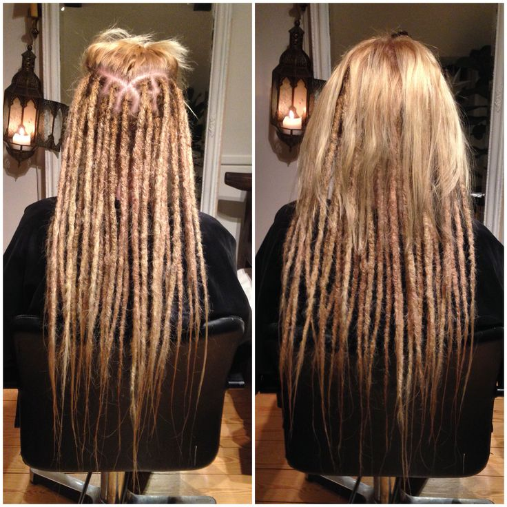 Helene came in to get her awaited dreadlocks with extensions. She decided to let some loose hair be on the top part of her hair. She was suuuuper exited about how her long lovley dreadlocks turned out.