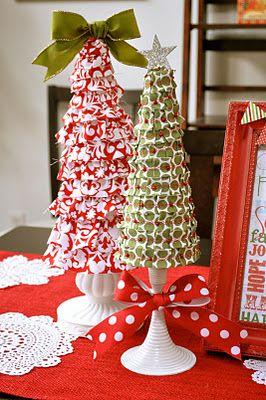 Ribbon-covered foam christmas tree tutorial by Little Birdie Secrets