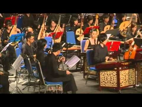 flute, zheng, with Chinese style note, which are 1, 2, 3, 5, 6... 4 and 7 are just for decorating..  xD