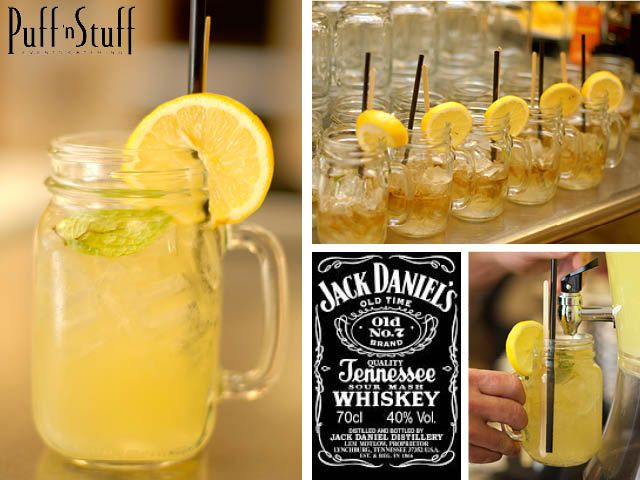 When life gives you lemons, grab some whiskey and make it a Smokey Mountain Lemonade! This refreshing mixture is perfect for a summer time fling, an evening at the Cheyenne Saloon or for an intimate gathering in your own backyard. Whatever reason you find, we'd like to passionately celebrate with you! So hats off, we're raising our Mason Jars to you! Get the recipe from the Puff 'n Stuff Catering blog: http://puffnstuff.com/2013/04/signature-cocktails-smokey-mountain-morning/