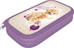 Lizzy Card Cicás tolltartó, 2 emeletes, üres Pet Cat (LIZ-16343001)