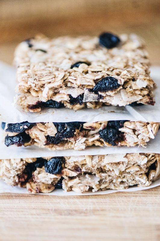 Blueberry Coconut Chewy Oat Bars (Gluten Free, Vegan)