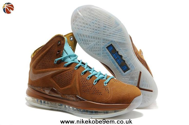 New Nike Lebron James 10 EXT Brown Blue Shoes