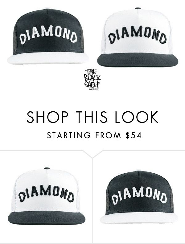 Diamond Supply Co Killing It Yet Again In The Hat Game. Grab Your Arch Snapback Here At The Black Sheep Store. by blacksheepstore on Polyvore featuring Diamond Supply Co.