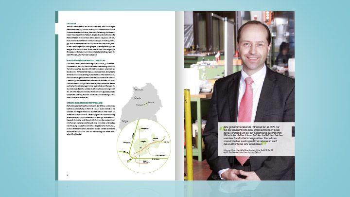 Konzeption und Erstellung einer Imagebroschüre für die Wirtschaftsförderung der Stadt Fellbach