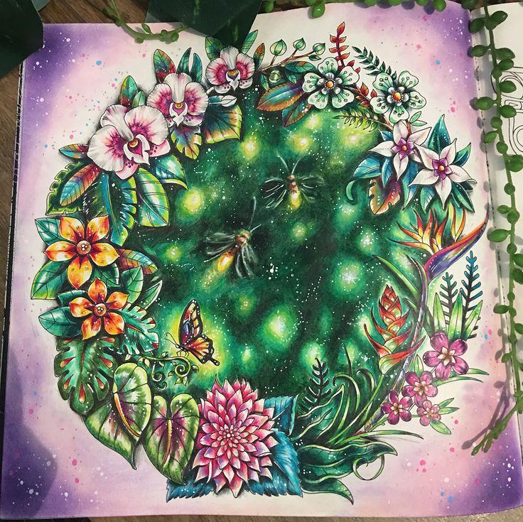 by dreams.colors - Vagalumes!! #magicaljunglecoloringbook #magicaljungle #johanna #johannabasford #lapisdecor #pencils #pencilscolor #prismacolorpencil #prismacolor #chameleonpencils #art #coloringbook #coloringbookforadults #coloring #livrosdecolorir #livrosdecolorirparaadultos #vagalumes #luciferina #insetosfofos