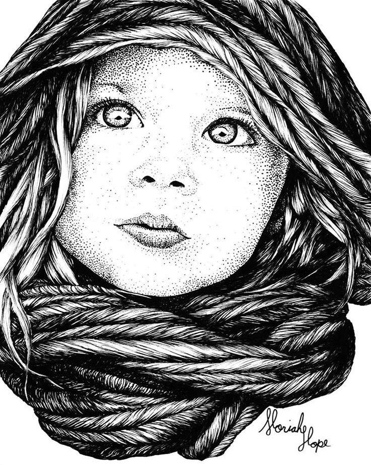 """""""Dottie"""" By Moriah Hengst Pen & Ink"""