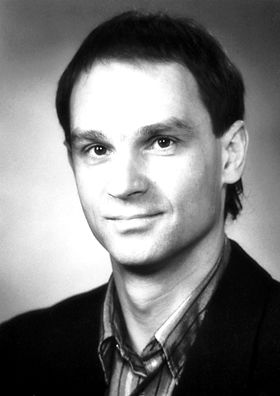 "Gerd Binnig 1986    Born: 20 July 1947, Frankfurt-on-the-Main, West Germany    Affiliation at the time of the award: IBM Zurich Research Laboratory, Rüschlikon, Switzerland    Prize motivation: ""for their design of the scanning tunneling microscope""    Field: Condensed matter physics, instrumentation"