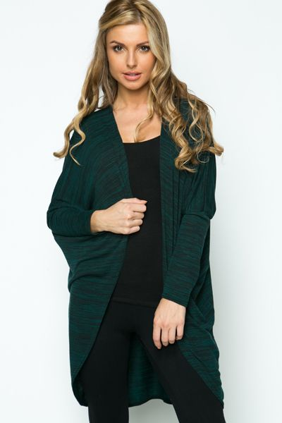 Knitted Stripe Open Front Cardigan