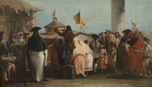 Giandomenico Tiepolo, El mundo nuevo, 1765, Olio su tela, Museo del Prado, Madrid