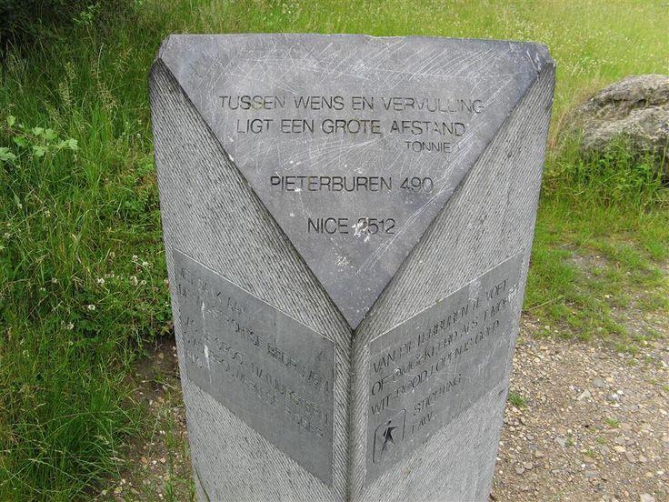 Einde Of Begin Pieterpad, Sint Pietersberg, Zuid-Limburg.