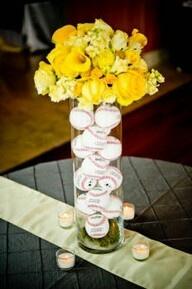 Baseballs & Floral Vase Centerpiece