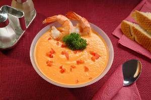 Суп–пюре из креветок