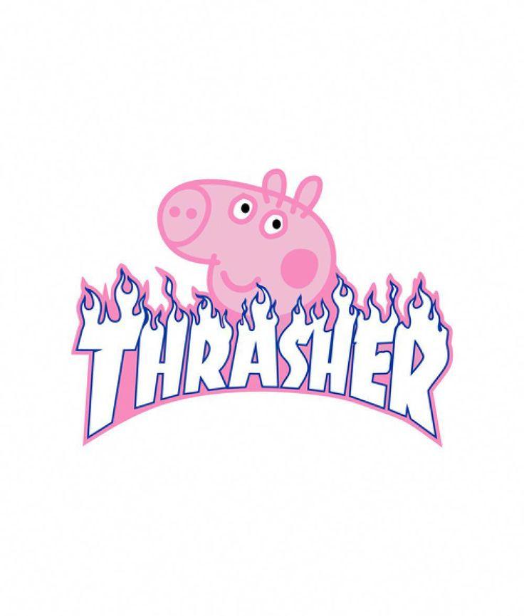 Peppa Pig X Thrasher Parody T Shirt Price: 15.89 & FREE Shipping #bandtshirt #Tr…