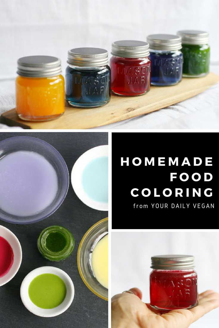 Homemade Food Coloring (All Natural + Vegan) | Nom^3 | Vegan ...