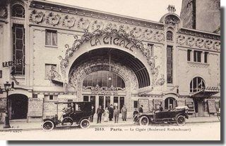 La Cigale Les Cafés-Concerts à Paris dans les années1900                                                                                                                                                                                 Plus
