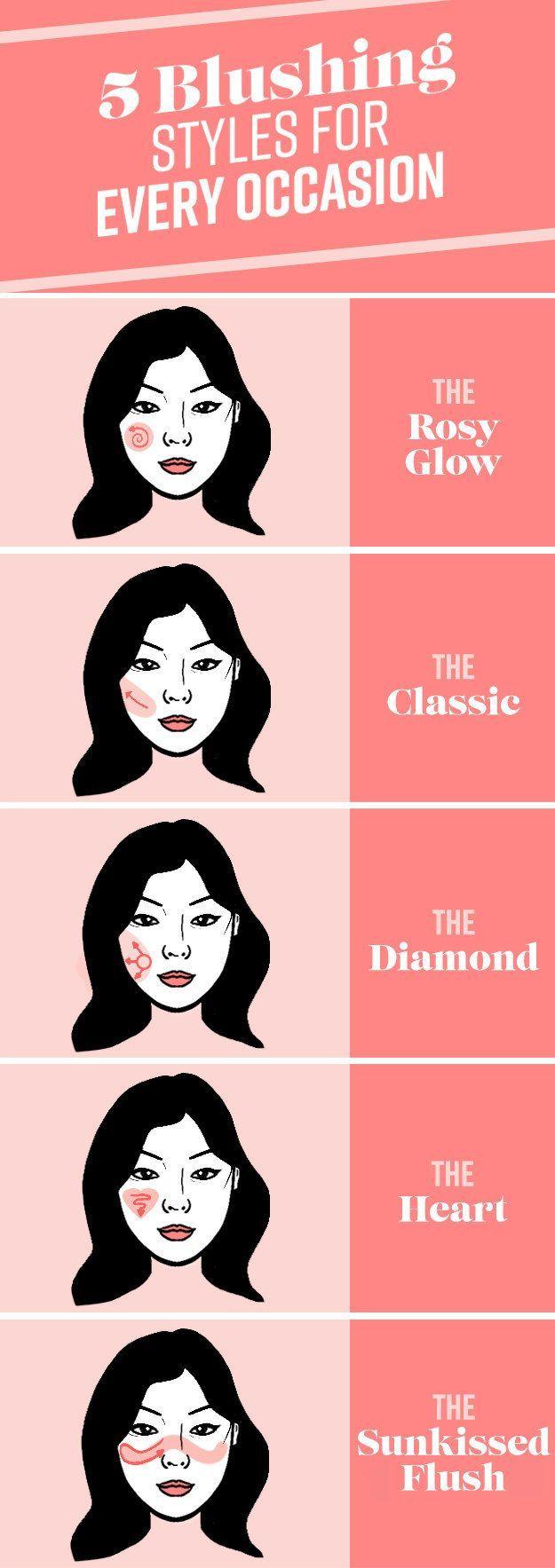 Und wenn alles andere fehlschlägt, probieren Sie einen dieser idiotensicheren Rouge-Looks. #AsianMakeupWed …