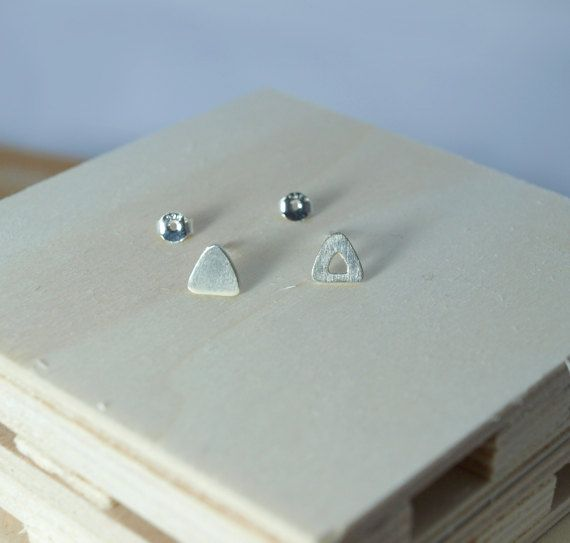 Check out this item in my Etsy shop https://www.etsy.com/listing/498763846/stud-earringstriangle-earringssterling