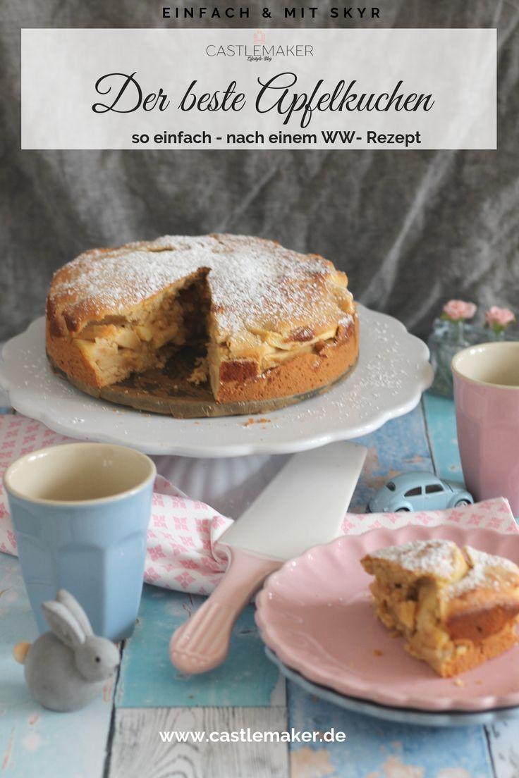 Weltbester Apfelkuchen…..so lecker und verblüffend einfach – Castlemaker Lifestyle-Blog / Food / Travel / Fashion / Beauty / Backen