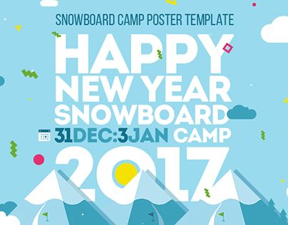 """Check out new work on my @Behance portfolio: """"Snowboard Camp Poster Template"""" http://be.net/gallery/44322023/Snowboard-Camp-Poster-Template"""