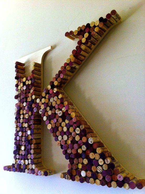 DIY wine cork ideas.