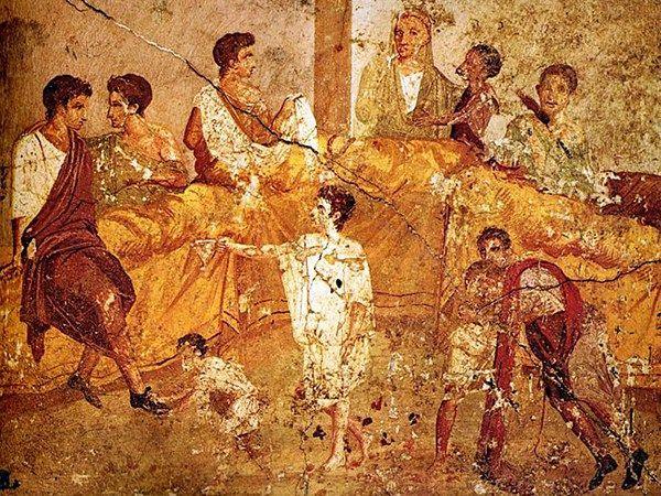 I banchetti degli aristocratici romani