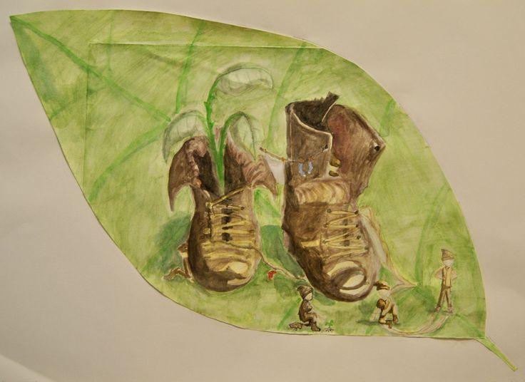 Parafras År 8 - efter Van Gogh - A Pair of Shoes
