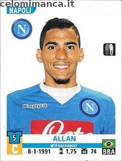 Calciatori 2015-2016: Fronte Figurina n. 399 Allan
