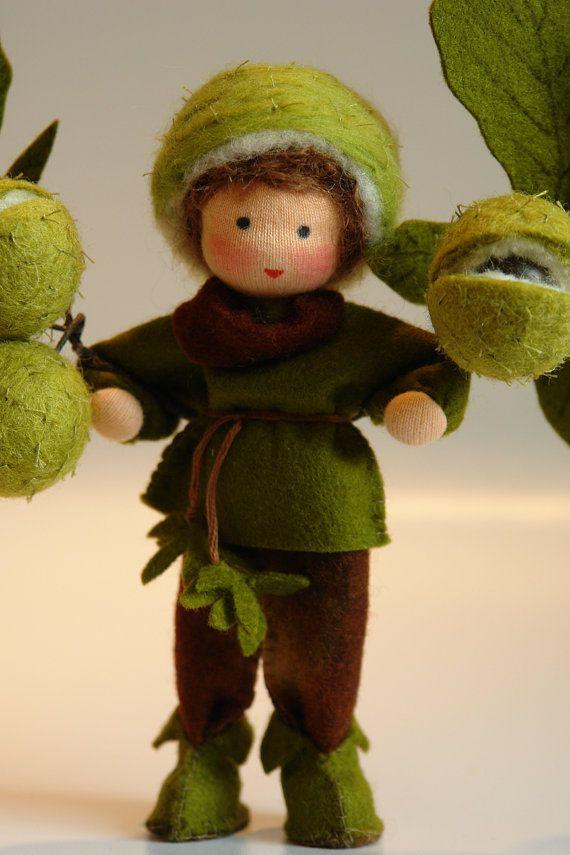 Chestnutboy Flower Child Waldorf Inspired by KatjasFlowerfairys
