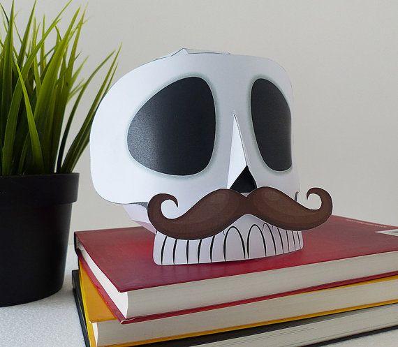 Calavera de papel para decoracion calavera por GraphicHomeDesign