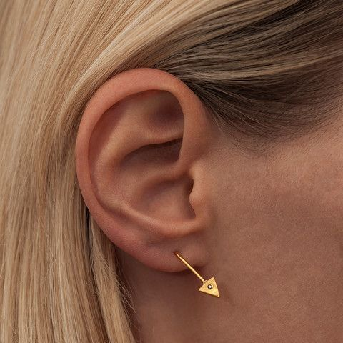 ROBIN DIAMOND & ROBIN ROUGH · EAR STUDS · GOLD PLATED