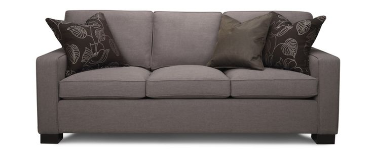 """Eastwood Fabric: Nubia 059 Includes two 20"""" x 20"""" pillows  SOFA Length (overall) 81"""" Length (inside) 68"""" Depth (overall) 36"""" Depth (seat) 21"""" Height (overall) 36"""" Height (arm) 24"""" Height (seat) 20"""""""