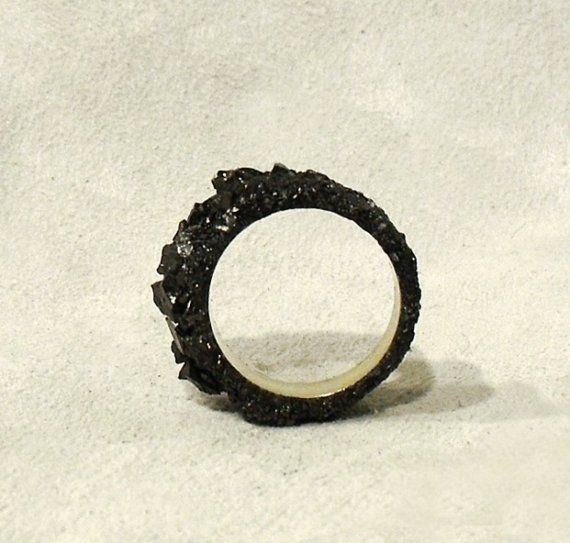 "A ""black diamond"" ring!  Made from coal, this would be a perfect gift for this coal miner's wife! :-)"