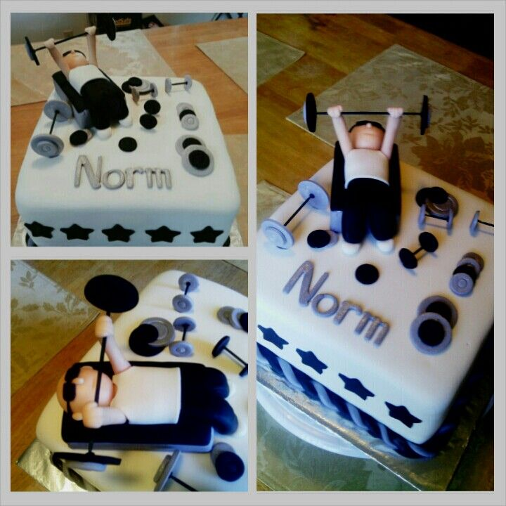 Gym Weight Lifting Themed Birthday Cake Cake And