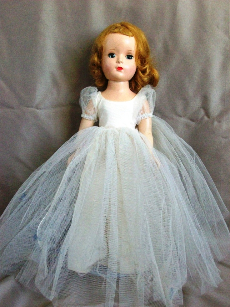 1950s Madame Alexander bride doll.  She was well-loved and well-played with.