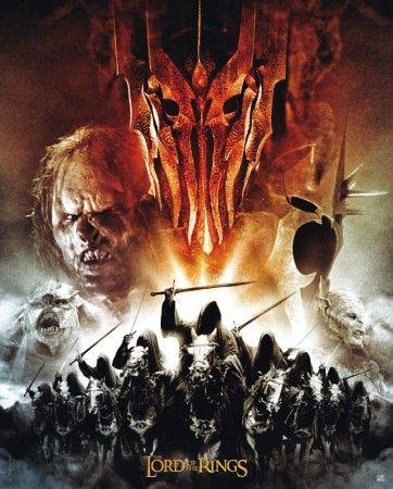 Poster affiche Lord of the rings Le seigneur des anneaux Les armées de Sauron