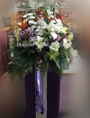 Send funeral flowers to Kota Tinggi: We provide fast deliver service for funeral flowers, condolence flowers, sympathy flower to Kota Tinggi and whole of Malaysia. Kota Tinggi florist online. Delivery coverage: within Malaysia