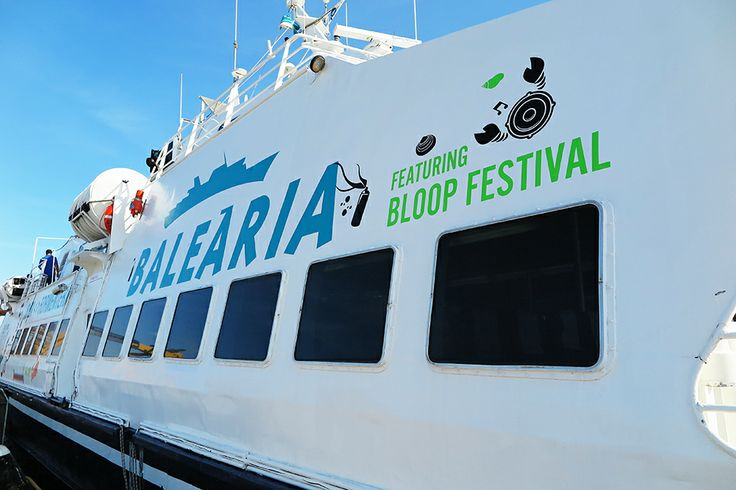 BLOOP 2014 preview MAVERICK BALEARIA BOAT bloop festival: 20th July/24th August 2014 #bloopfestival #ibiza #festival #boat #artworks #balearia #formentera