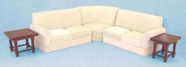 Cream Corner Sofa | TheDollhouseCompany.com