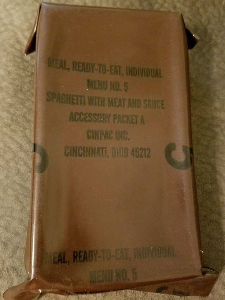 #Vintage #MRE Menu 5 #Spaghetti #Meat #Sauce US #Military Ration #Meal Ready To #Eat