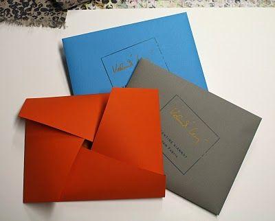 origami envelopes for scarves