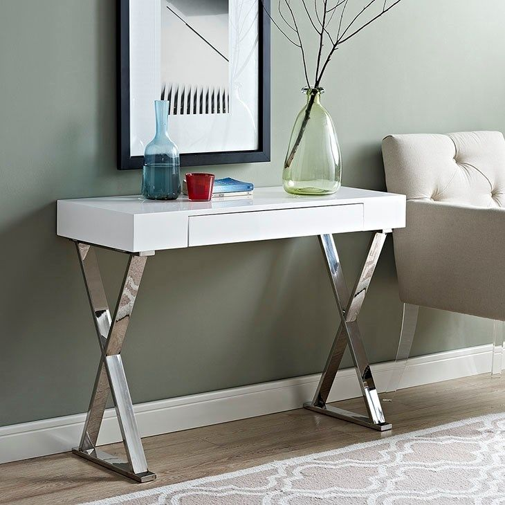lexmod sector console table in white