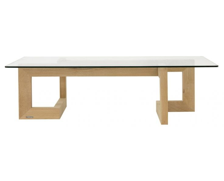 Novo Coffee Table with Glass (Oak) - Furniture | Weylandts South Africa