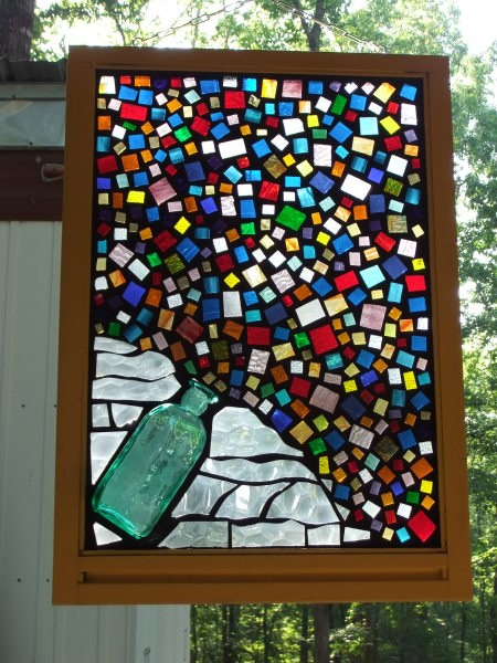 17 best images about stained glass on pinterest modern for Recycled glass projects