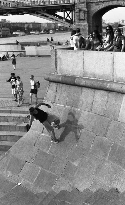 Photo by Sergey Borisov.  Parkour. 2012. Gorky park. Moscow.