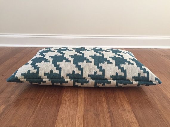 Teal Dog Bed Covers Houndstooth dog bed cover by PlushPupdogbeds