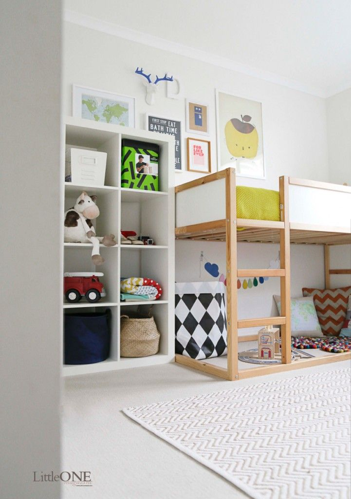 cool kid's room made with IKEA furniture