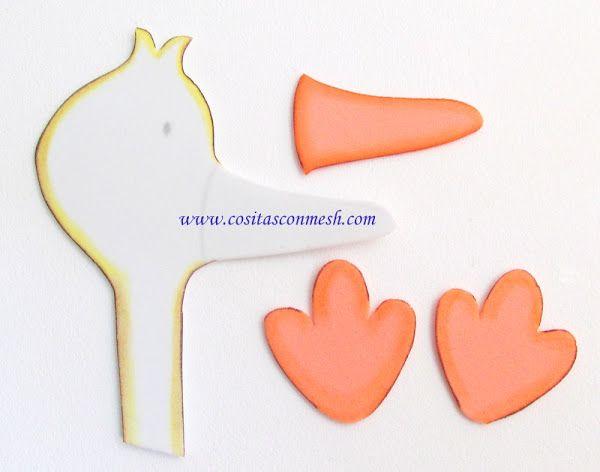 Cigueña con dulces para baby shower | Aprender manualidades es facilisimo.com